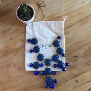 J.crew cobalt blue statement necklace